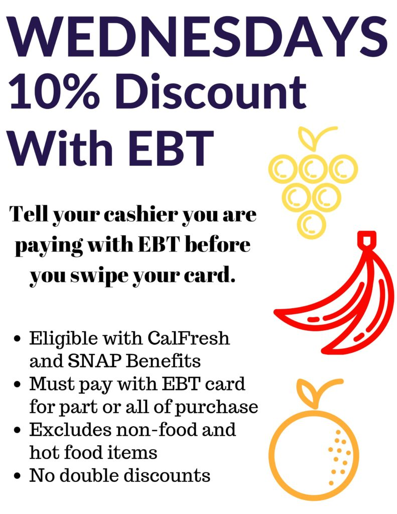 Wednesdays 10% Discount With EBT